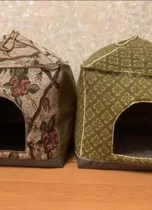 Теплые домики/лежанки для кошки/маленькой собачки