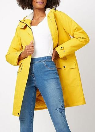 Демисезонная ярко-желтая парка authentic outerwear collection ...