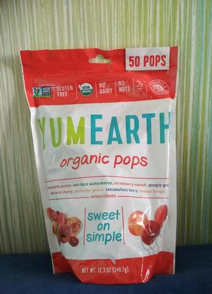 Yumearth, органические леденцы, ассорти, 50 леденцов