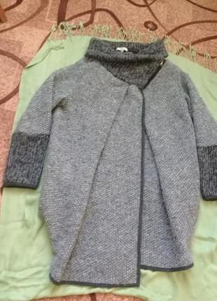 Оригинальная очень теплая кофта кардиган пальто dranella