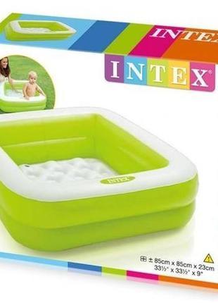 Детский бассейн надувной (Зелёный)