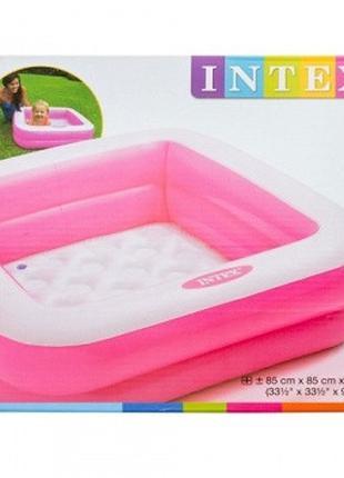 Детский бассейн надувной (Розовый)