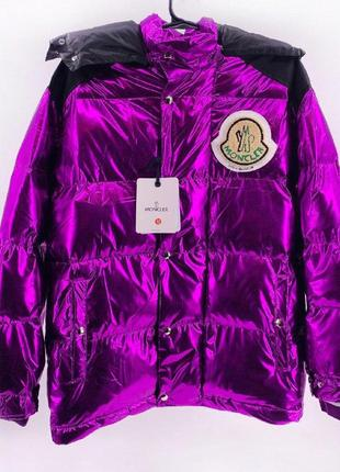 Пуховик moncler violet теплый пуховик куртка женская