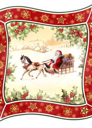 "Блюдо ""christmas collection"" 26х26х4см"