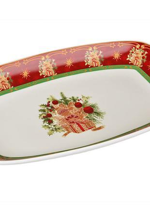 "Блюдо ""christmas collection"" 30*19 см.(кор=10шт.)"