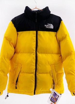 Пуховик the north face  700 / yellow женская зимняя куртка