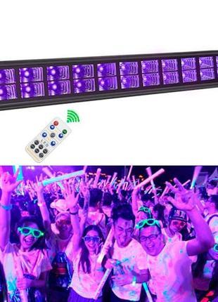 Светодиодная панель УФ 24LED 72Вт 52см Диско стробоскоп цветом...