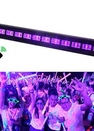 Светодиодная панель УФ 12LED 36Вт 50см Диско стробоскоп цветом...
