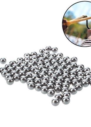 Шарики стальные 7.3мм для рогатки арбалета 100шт