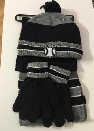 Шапочка ,шарф и перчатки