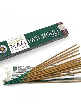 Благовоние Golden Nag Patchouli (Золотая Пачули)(Vijayshree)(1...