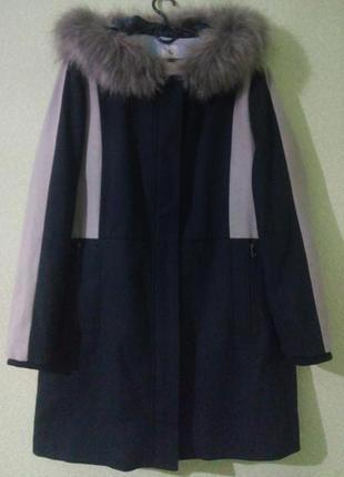 Тёплое зимнее пальто большого размера