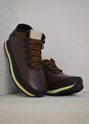 New balance 754 мужские зимние ботинки с мехом коричневые зима