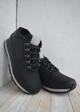 New balance 754 black мужские зимние ботинки с мехом чёрные зима