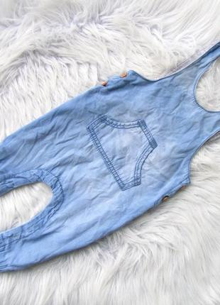 Крутой  джинсовый утепленный полукомбинезон hema