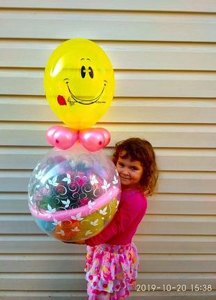 Кулька з живими квітами