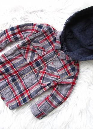 Качественная теплая рубашка реглан свитшот кофта next