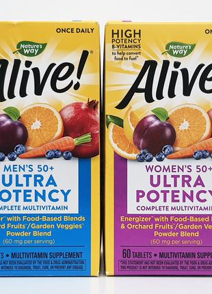 Витамины Nature´s Way Alive! для женщин и мужчин старше 50 лет