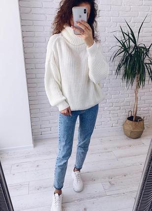 Женский широкий свитер оверсайз, вязаная кофта