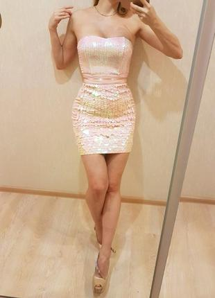 Нарядное корсетное платье 8р gold by giles new look sale