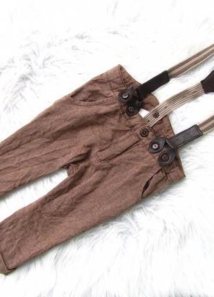Стильные штаны брюки с подтяжками h&m