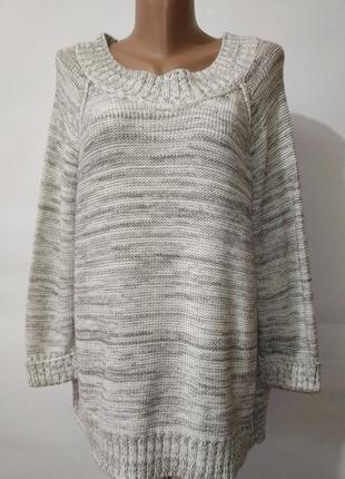 Серый джемпер пуловер реглан большой размер debenhams uk 20/48...