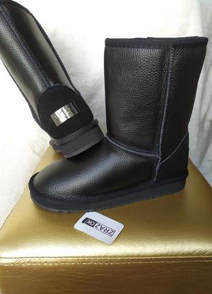 Натуральные кожаные замшевые угги сапоги ботинки кожа