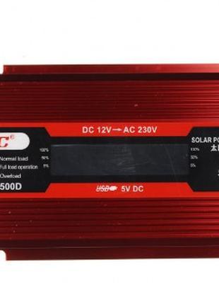 Инвертор преобразователь UKC KC-500D AC/DC с 12 на 220 вольт +...