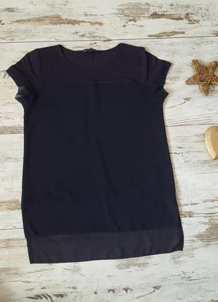 Очень нежная блузка футболка шифоновыми вставками