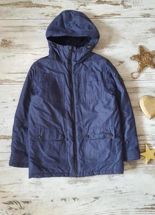 Зимняя теплая куртка на флисовой подкладке еврозима