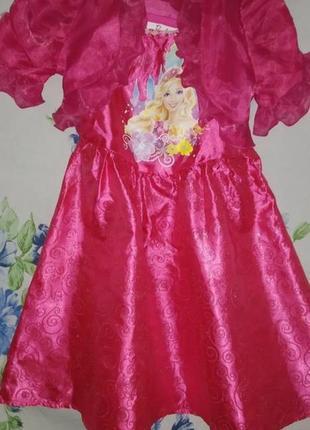 Карнавальное новогоднее платье костюм кукла барби на 2-3 годика