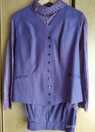 Брючный женский костюм новый размер 48-50