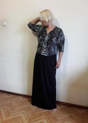Трикотажная блузка в принт