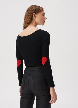 Новая длинная облегающая черная кофта блузка лонгслив польша н...