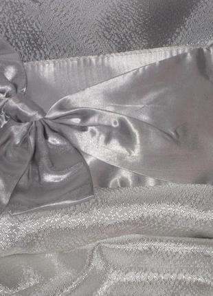 Christina aguilera клатч серебро атлас