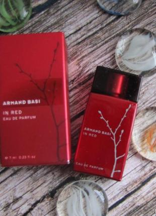 Armand basi in red eau de parfum миниатюра 7 мл оригинал! pro