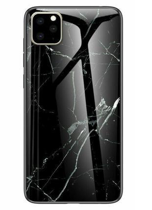 "TPU+Glass чехол Luxury Marble для Apple iPhone 11 Pro Max (6.5"")"