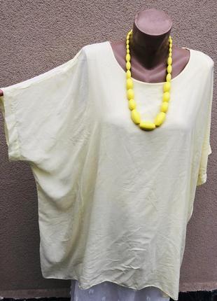 Желтая блуза,рубаха,туника,пончо,этно бохо стиль,большой размер