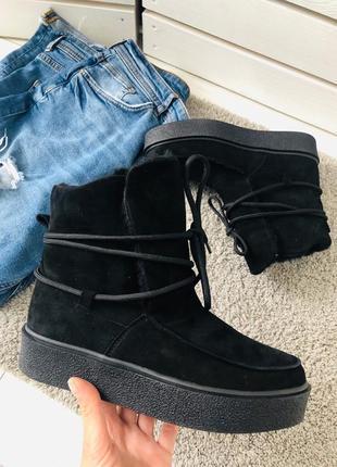 Lux обувь!😍шикарные натуральные зимние ботинки угги на меху и ...