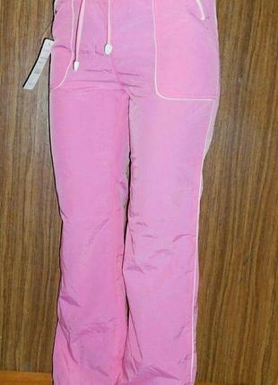 Розовые новые, балоневые, спортивные штаны, с карманами сперед...