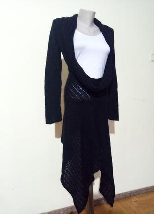Теплая мягкая туника платье шерсть мохер