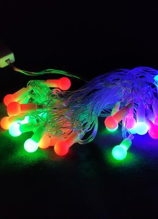Гирлянда матовый шарик 28 LED 5м (флеш) 10мм RGB (RD-7101), Свето