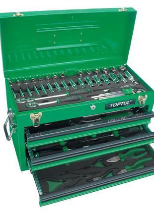 Ящик с набором инструментов для автосервиса TOPTUL 3 секции 82...