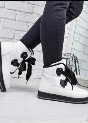 Зимние ботинки дутики женские евро зима