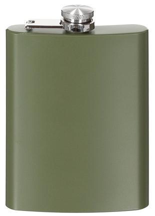 Фляга для алкоголя 225мл нержавеющая сталь, тёмно-зелёная Fox ...