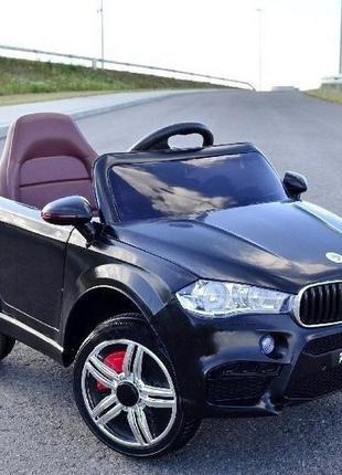 Детский электромобиль BMW X5 (черный цвет) с пультом управления
