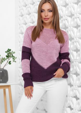 Вязаный женский свитер!!!🌸🌸🌸