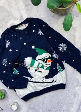 Теплый новогодний свитер atmosphere