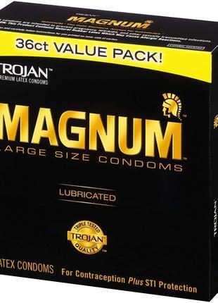 Премиум презервативы больших размеров Trojan Magnum из США