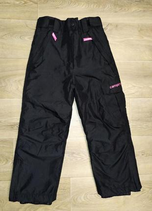 Лыжные тёплые штаны campri 5/6лет
